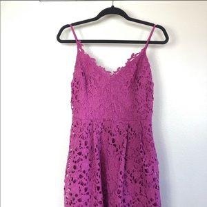Astr Dresses - Astr the label - fuchsia midi lace dress